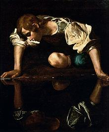Caravaggio's Narcissus. And the artist hadn't even met a modern corporate CEO