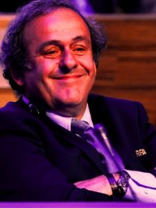 UEFA's Michel Platini with timepiece