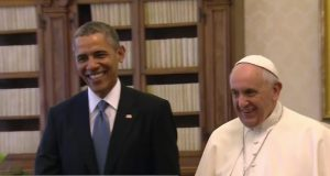Obama and Pope Francis in 2014